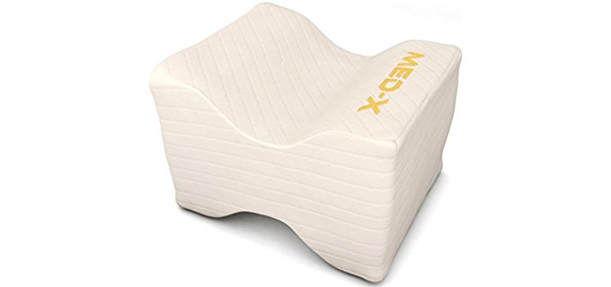 MedX Memory Foam Wedge Contour - Pain Relief For Sciatic Nerve , Leg , Back , Pregnancy