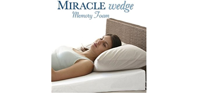 Miracle Wedge Anti Snore Memory Foam - Pillow for Gerd