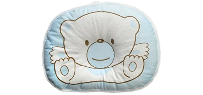 Generic Blue - Anti roll Pillow Flat Head Sleeping Positioner Bear