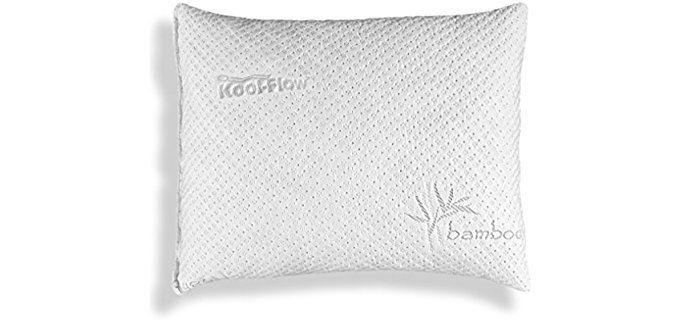 Xtreme Comforts Hypoallergenic - Shredded Memory Foam With Kool-Flow Micro-Vented Bamboo Cover