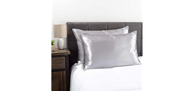 Bedford Home Luxury - Satin Microfiber Pillowcase