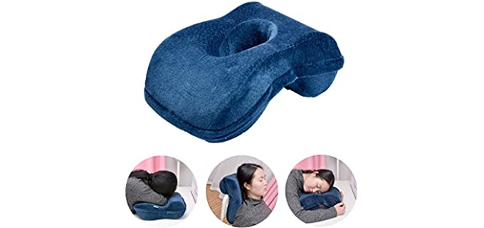 WOWSEA Bamboo Charcoal - Pillow with Arm Hole