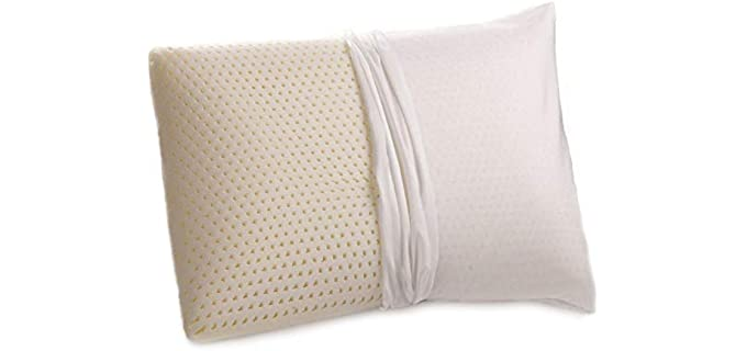OrganicTextiles 100% Natural - Talalay Latex Antimicrobial Pillow