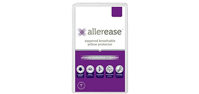 AllerEase Ultimate Protection - Antimicrobial Pillow Protector