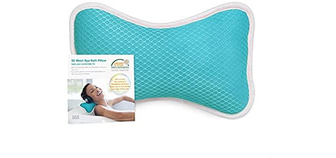 Coastacloud Store Comfortable - Spa Bath Pillow