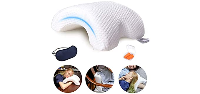 LOCYOP Arched - Couple Sleeping Pillow