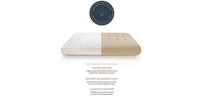 SensorPEDIC Wellness Collection - Copper Infused Bed Pillow