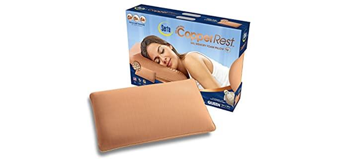 Serta CopperRest - Gel Memory Foam Pillow