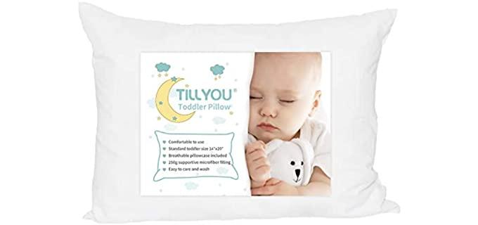 TILLYOU Ergonomic - Toddler Bed Pillow