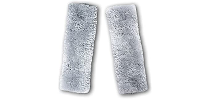 Zento Deals  Faux Sheepskin - Seat Belt Shoulder Pad