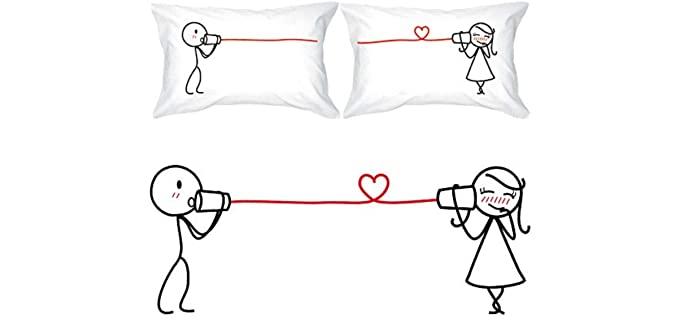 BoldLoft Say I Love You - Pillowcase Set for Couples