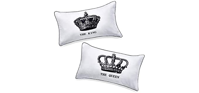 DasyFly King and Queen - Pillowcase Set for Couples