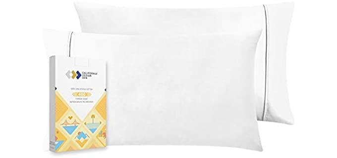 California Design Den Cotton - Memory Foam Pillow Case