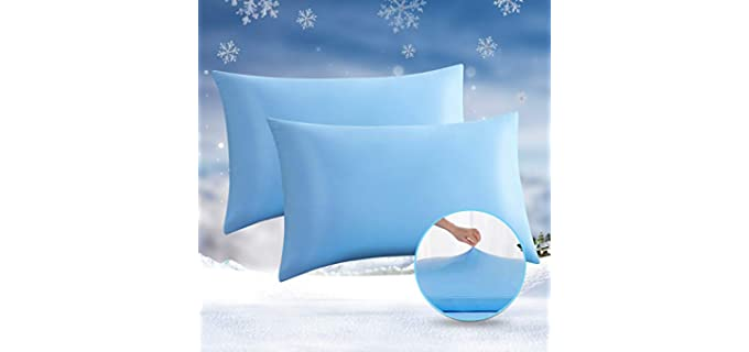 Avolare Two Pack - Memory Foam Cooling Pillow Case