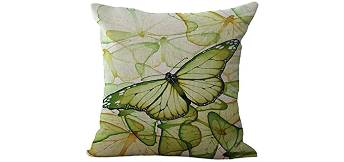 Chezmax Printed - Throw Pillow for a Leather Couch