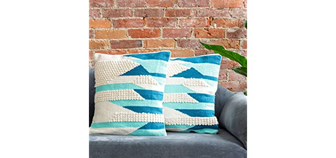Refinery29 Stevie Collection - Cushion for Pressure releifThrow Pillows for Your Leather Couch