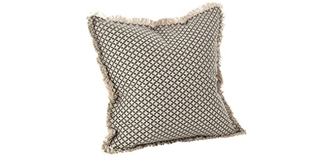 Saro Lifestyle Corinth - Throw Pillow for a Leather Couch