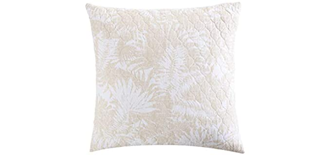 Tommy Bahama Lago leaves - Throw Pillow for a Leather Couch