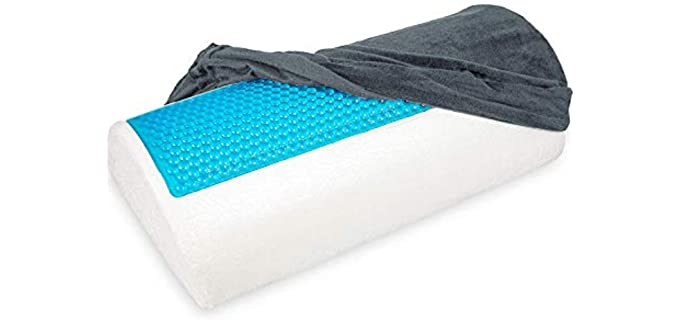 Soothing Company Bolster - Memory Foam Halfmoon Pillow