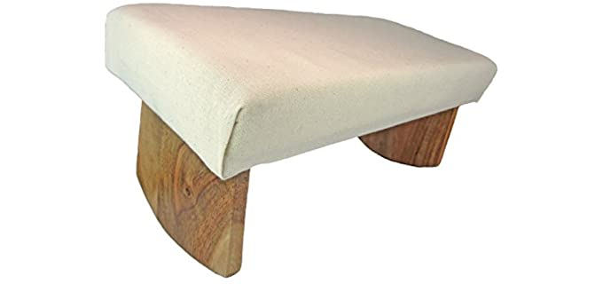 Meditation Designs Acai Wood - Meditation Pillow and Bench